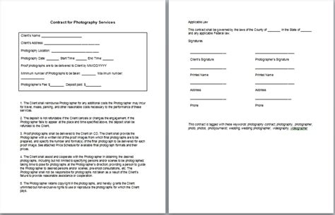 template commercial photography contract template business plan