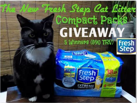 Fresh Step Sweepstakes - fresh step cat litter compact packs giveaway 2 26 2017 saralee s deals steals