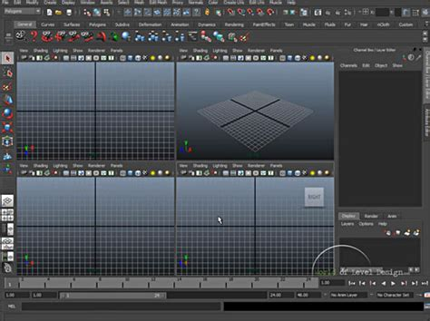 tutorial design interface maya tutorial for beginners interface overview