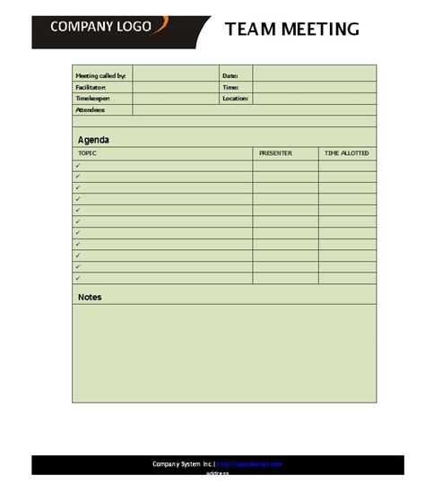 meeting template 46 effective meeting agenda templates template lab