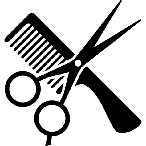 Hairstyle Tools Designs For Silhouette Cutting by Hair Cut Tool Icons Free