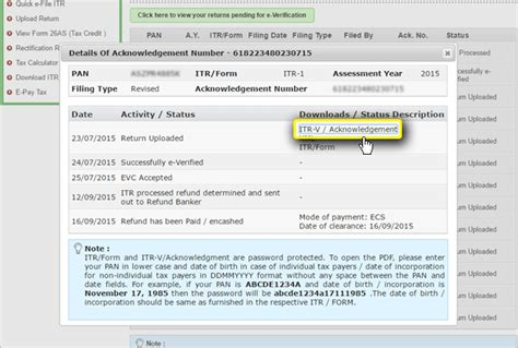 password pattern to open itr what is itr v how to download your itr v form