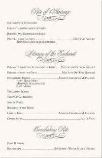 Wedding program examples catholic mass wedding program wording wedding