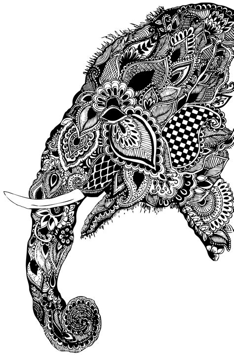 pattern elephant head drawing paisley s 246 k p 229 google elephant art pinterest