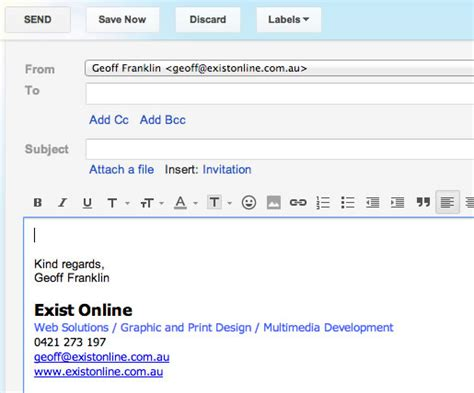 gmail business letterhead how to setup an email signature in gmail geoff franklin