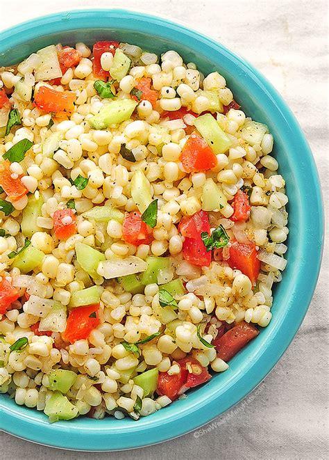 fresh corn salad recipe she wears many hats