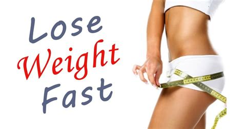 losing weight fast recommended methods