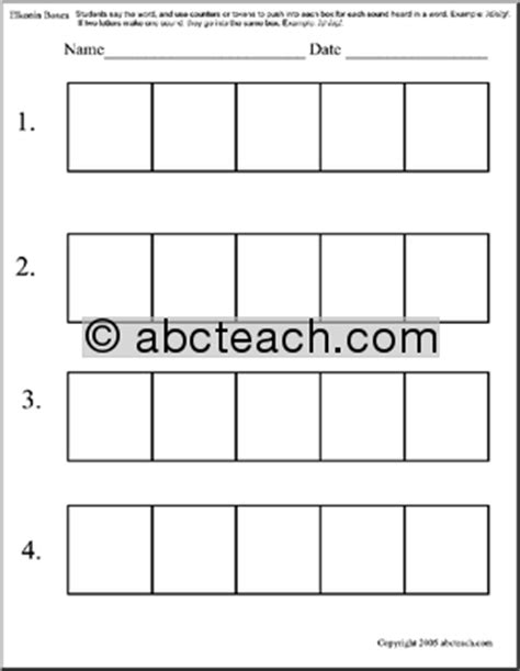 elkonin boxes template all worksheets 187 elkonin boxes worksheets printable