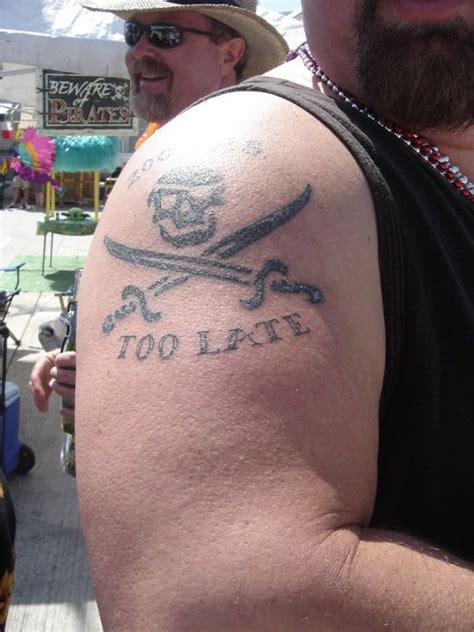 frisco tattoo yes i am a pirate 40 years late taken in frisco