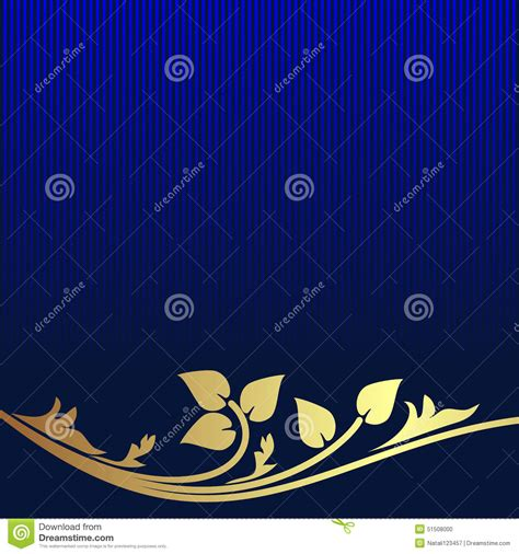 navy blue background decorated the golden royal border royalty free navy blue background decorated the golden floral border