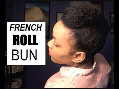 French Roll Bun W Stuffing On Fine Natural Hair Easy | french roll bun w stuffing on fine natural hair easy