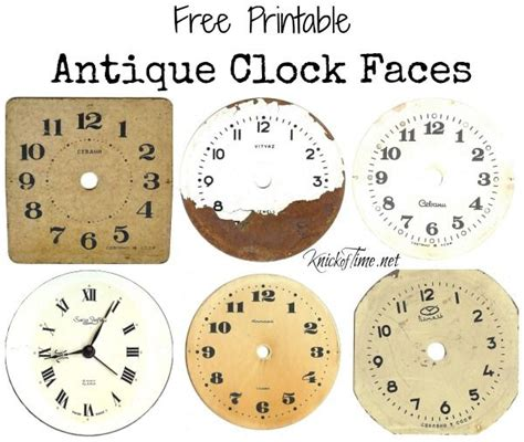 printable antique clock faces antique clock face printable and tin can craft antiques