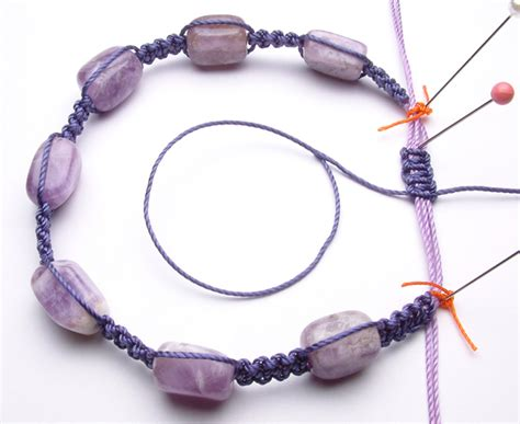 Macrame Knots Bracelet - the gallery for gt macrame bracelet patterns easy