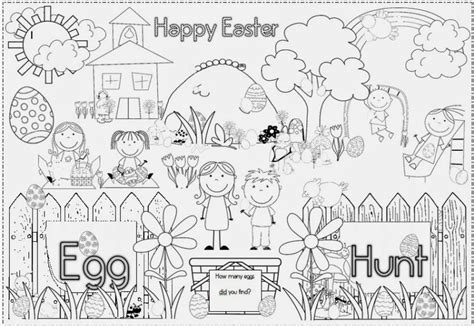 coloring pages easter egg hunt easter egg wreath and photo frame clever classroom