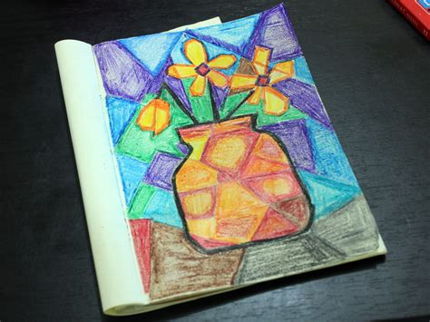 easy cubism paintings how to do a cubist style painting 13 steps with pictures