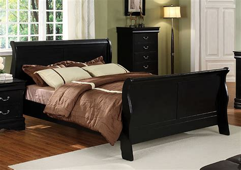 Louis Philippe King Sleigh Bedroom Set by Furniture Ville Bronx Ny Louis Philippe Ii Black