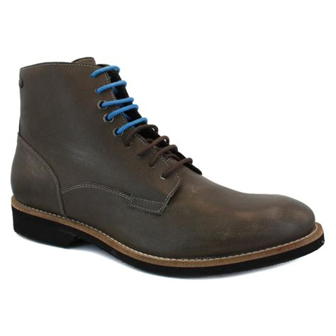 Kickers Diesel Leather diesel cornwall mens laced leather ankle boots brown