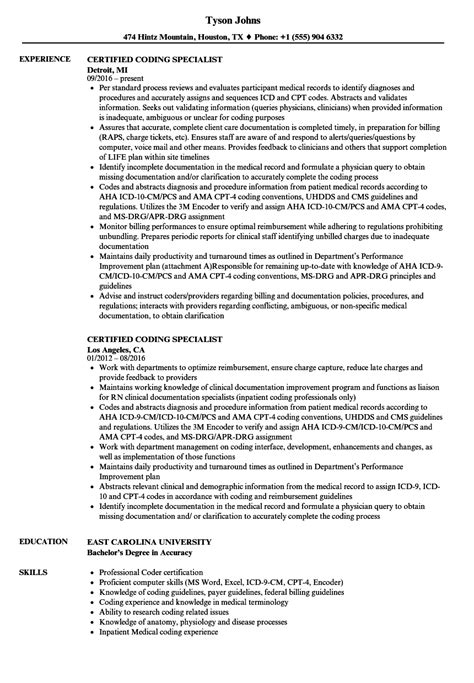 medical coding fresher resume samples fred resumes