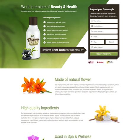 Health Beauty Free Responsive Website Template Spa Responsive Website Template Free