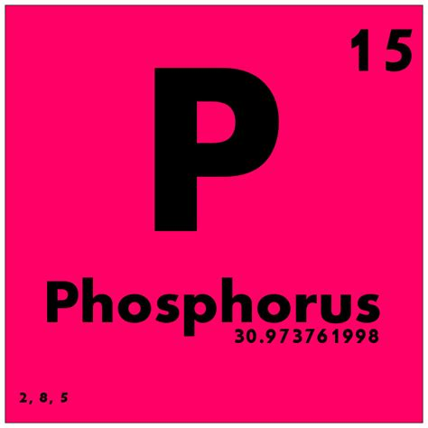 Phosphate Periodic Table by 015 Phosphorus Periodic Table Of Elements Study