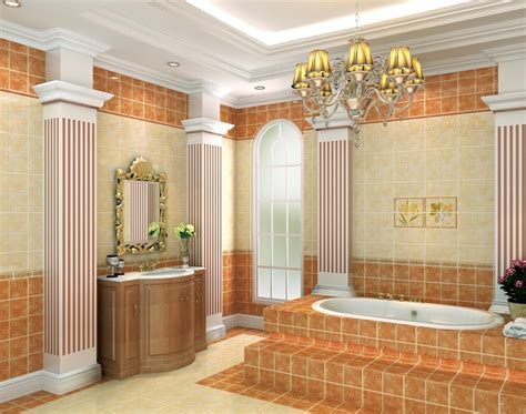 bathroom interior design walls and pillars 3d house