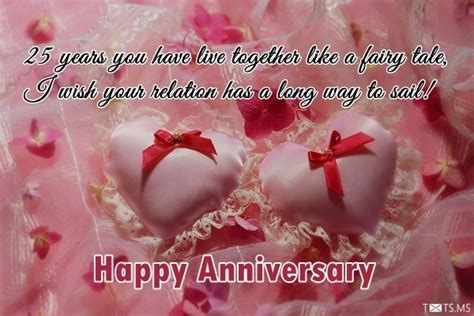 Wedding Anniversary Wishes 25 Years by 25th Wedding Anniversary Wishes Messages Quotes Images