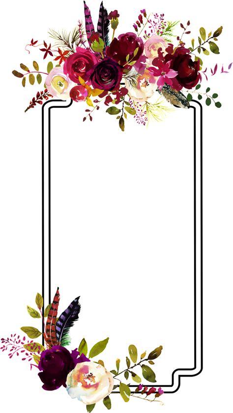 fashion flower border decoration vector flower