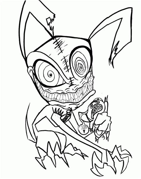 really scary halloween coloring pages coloring pages