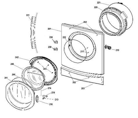 hotpoint washing machine parts diagram indesit washing machine front door trim c00202939 by indesit