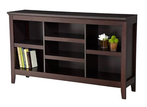 threshold carson horizontal bookcase with adjustable