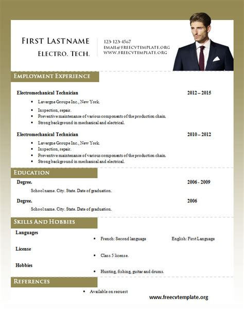 cv pattern words word resume templates 980 to 986 free cv template dot org