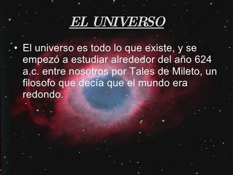 por que existe el el universo