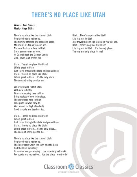 There Is A Place Song Lyrics Utah This Is The Place State Song Cd Vocal And Accompaniment