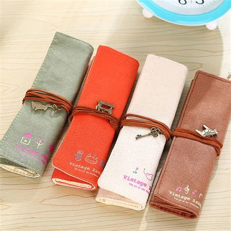 Print Roll Up Pencil wam pc mb13 canvas pencil roll up cosmetic storage