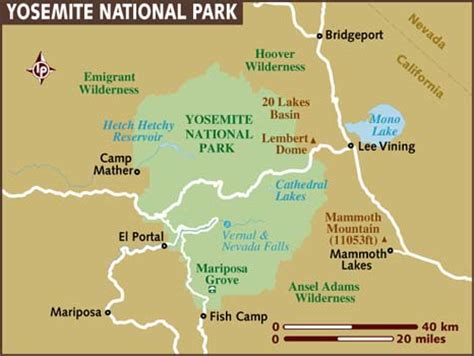 map of yosemite redefining the of yosemite national park wonders of the united states
