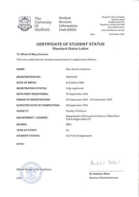 certification letter student certification letter of student 28 images exle of bank