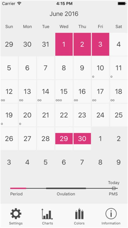 Calendrier Regles Calendrier Des R 232 Gles D Ovulation Dans L App Store