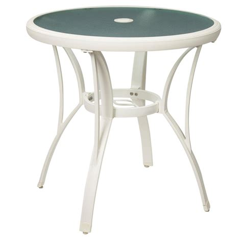Outdoor Bistro Table Hton Bay Marshmallow Commercial Grade Aluminum Outdoor Patio Bistro Table Fta60762am