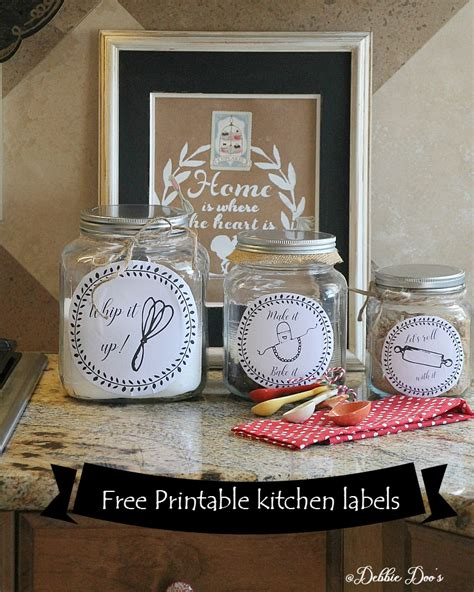 labels for kitchen canisters free kitchen printable labels for canisters or more