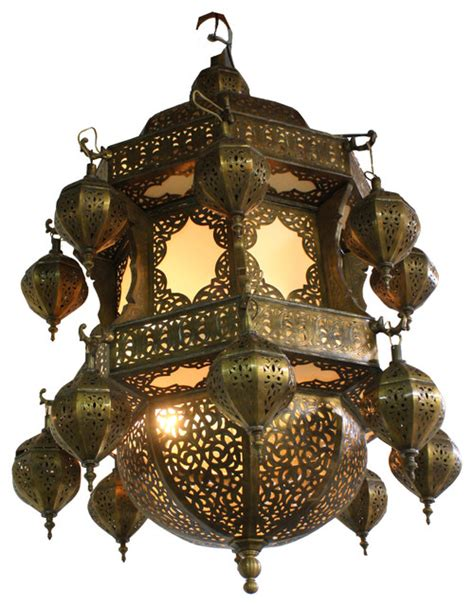 Moroccan Style Chandelier Moroccan Style Chandelier With White Glass Mediterranean Chandeliers By Badia Design Inc