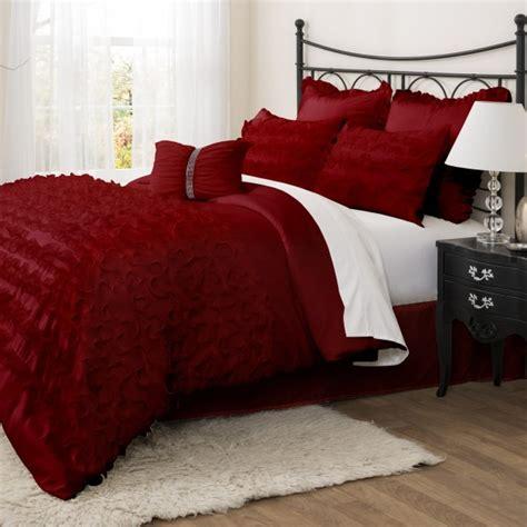 lush decor avery 7pc red comforter set