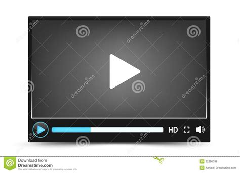 format video player dark skin vector video player interface royalty free stock