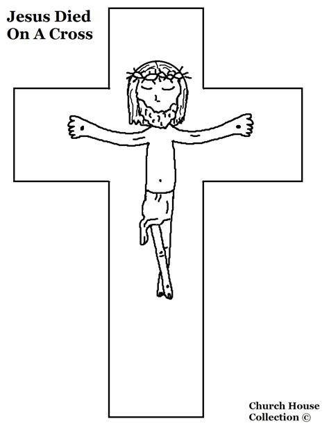 coloring page jesus cross jesus died on the cross coloring page