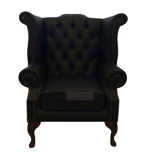 black leather chesterfield armchair chesterfield genuine leather black queen anne armchair