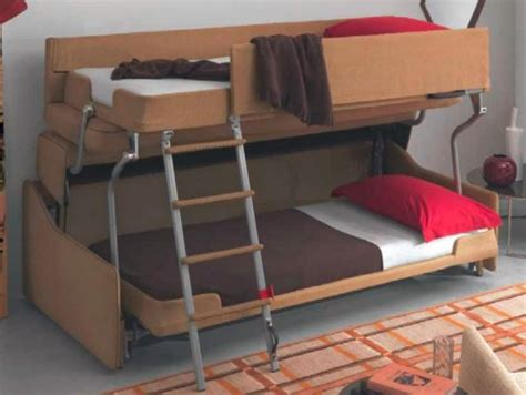 triple decker couch space saving sleepers sofas convert to bunk beds in