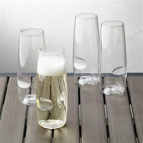 stemless chagne flutes govino 174 shatterproof plastic stemless chagne glasses