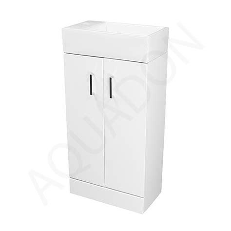 Slimline Cloakroom Vanity Units by Bathroom Cloakroom Slimline 450 Vanity Unit Square Basin