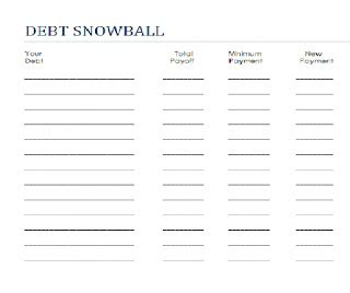 Dave Ramsey Debt Snowball Spreadsheet by Print Your Own Debt Snowball Sheet Here Images Frompo