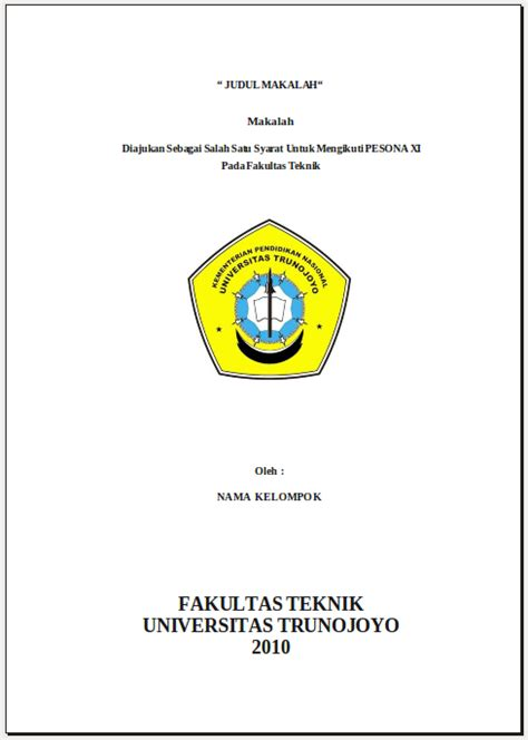 contoh cover makalah kusunj com skripsi artikel makalah share the knownledge