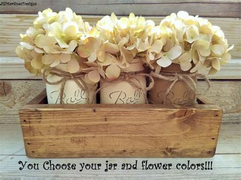 jar and wood centerpieces best 25 kitchen table centerpieces ideas on